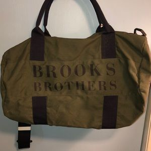 BROOKS BROTHERS CANVAS DUFFLE